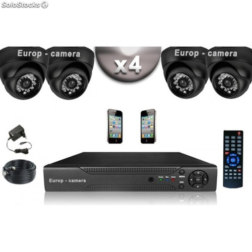 Dvr cam ra de surveillance for Camera exterieur sans fil
