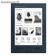 "e-Book energy sistem eReader Screenlight hd 128MB 8GB 6"" con luz negro"