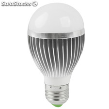 E27 6W brillo ajustable LED blanco Bola Steep Bombilla, AC 85-265V