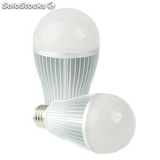 E27 Color 6W Temperatura ajustable Bombilla LED Bola Steep doble luz con el