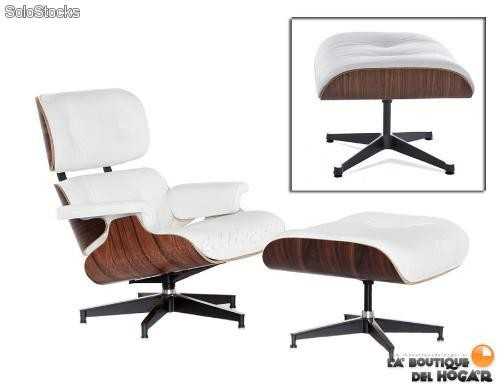 Eames Lounge Chair and Ottoman Blanco