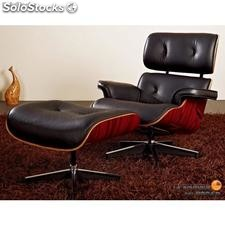 Eames Lounge Chair and Ottoman blanco o negro
