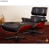 Eames Lounge Chair and Ottoman negro