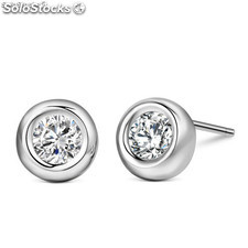 Earrings made of 925 silver with Cubic Zirconite.