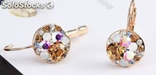 Earrings plated in 18k rose gold created with Swarovski® crystal.