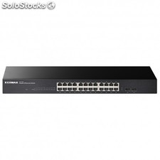 Edimax - GS-1026 V2 No administrado Gigabit Ethernet (10/100/1000) Negro switch