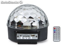 Efecto led Mini Esfera 6 x 3W usb/sd/mp led-MINIBALL06U fonestar, con mando a