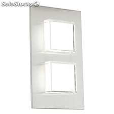 EGLO Aplique de pared LED exterior Pias 2,5 W plateado 93365