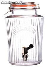 El Bidón dispensador de bebidas Vintage Kilner 5 litros Drinks Dispenser 5 L