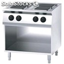 Electric cooker, 4 plates - open cupboard - mod. fn74qdf - power kw 10,4 - three