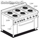 Electric cooker - mod. cf6/610et - n. 6 round plates - electric oven with grill