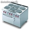 Electric cooker - mod. cf6/912etv - n. 6 round plates - gn 2/1 electric static