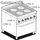 Electric cooker - mod. cfc4/78et - n. 4 glass ceramic plates - gn 2/1 electric