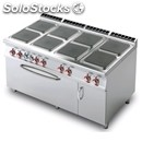 Electric cooker - mod. cfq8/916etv - n. 8 square plates - gn 3/1 electric static