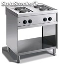 Electric cooker - mod. n74q - n. 4 round plates - open cupboard - dimensions cm