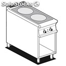 Electric cooker - mod. pcc/94et - n. 2 glass ceramic plates - open cupboard -