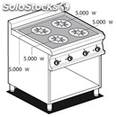 Electric cooker - mod. pci/78et - n. 4 induction plates - open cupboard -