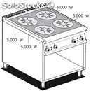 Electric cooker - mod. pci/98et - n. 4 induction plates - open cupboard -