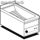 Electric countertop chip scuttle - mod. bs/1em - tank features perforated drip