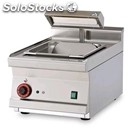 Electric countertop chip scuttle - mod. bst/64em - tank x gn 2/3 15h with