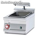 Electric countertop chip scuttle - mod. bst/74em - tank features perforated drip