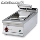 Electric countertop chip scuttle - mod. bst/94em - tank features perforated drip