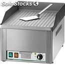 Electric countertop griddle - mod. fry1/rc - grooved chrome plate - power 3 kw -