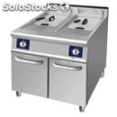 Electric fryer - mod. f77e - n. 2 tanks lt. 17 - dimensions cm l 70 x d 70 x h