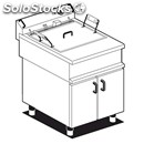 Electric fryer - mod. fmpe-20 - bakery-specific - n. 1 tank lt 17 - compartment