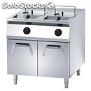 Electric fryer - mod. fn94gsf - n. 2 tanks lt. 18 + 18 - cupboard with out-swing
