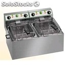 Electric fryer - mod. ft/44 - tank capacity 3 + 3 lt - single phase - ec