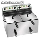 Electric fryer - mod. sf/99 - tank capacity 9 + 9 lt - single phase - ec