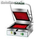 Electric glass-ceramic grill - mod pv 27lr - single grooved grill - cooking
