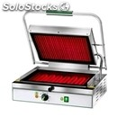 Electric glass-ceramic grill - mod pv 40lr - single grooved grill - cooking