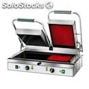 Electric glass-ceramic grill - mod pv 55lr - double grooved grill - cooking