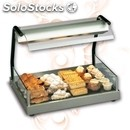 Electric glass-ceramic hot plate with infrared lamp - mod. euronormvista -