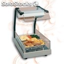 Electric glass-ceramic hot plate with infrared lamp - mod. gastronorm1/1gnvista