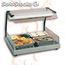Electric glass-ceramic hot plate with infrared lamp - mod. gastronorm2/1vista -