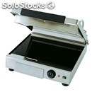 Electric glass ceramic toaster with grooved base and lid - with thermostatic