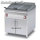 Electric grill - mod. cw/98et - n. 2 stainless steel grates - n. 2 cooking zones