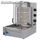 Electric gyros with 3 heating elements - mod. ge2 - n.3 cooking zones - meat