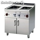 Electric pasta cooker - mod. cp/78et - n. 2 tanks lt 25+25 - three phase -