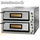 Electric pizza oven mod. fml 4+4 - manual control panel - single phase/three