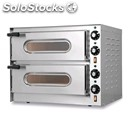 Electric pizza oven - mod. little/bis glass - glass door - twin deck oven -