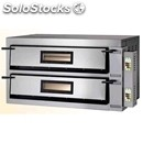 Electric pizza ovens mod. fmdw/6+6 - fully firebrick oven chamber - digital