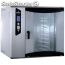 Electric steam convection oven with rotating rack on fixed axis and digital