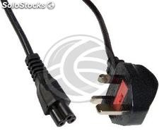 Electrical Wire British Standard BS-1363-1 IEC-60320-C5 3m black (CL32)