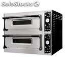 Electromechanical pizza oven - mod. basic xl66 cpr - twin deck oven - firebrick