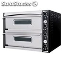 Electromechanical pizza oven - mod. superior xl44 - twin deck oven - firebrick