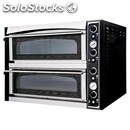 Electromechanical pizza oven - mod. superior xl66 glass - twin deck oven - glass